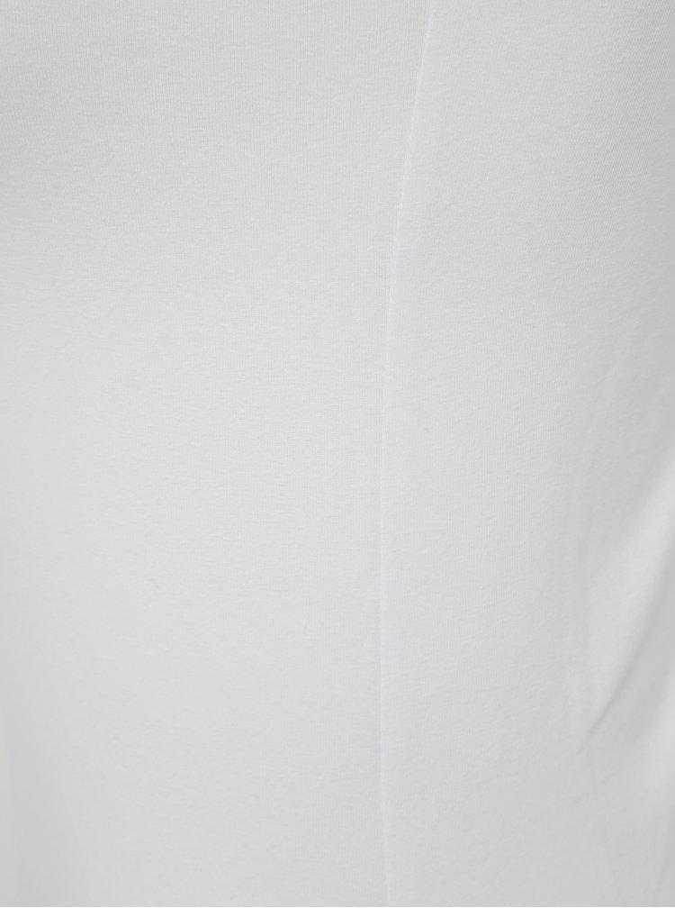 Bílé pouzdrové basic šaty Yest
