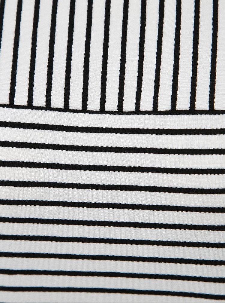 Čierno-biele pruhované tričko Yest