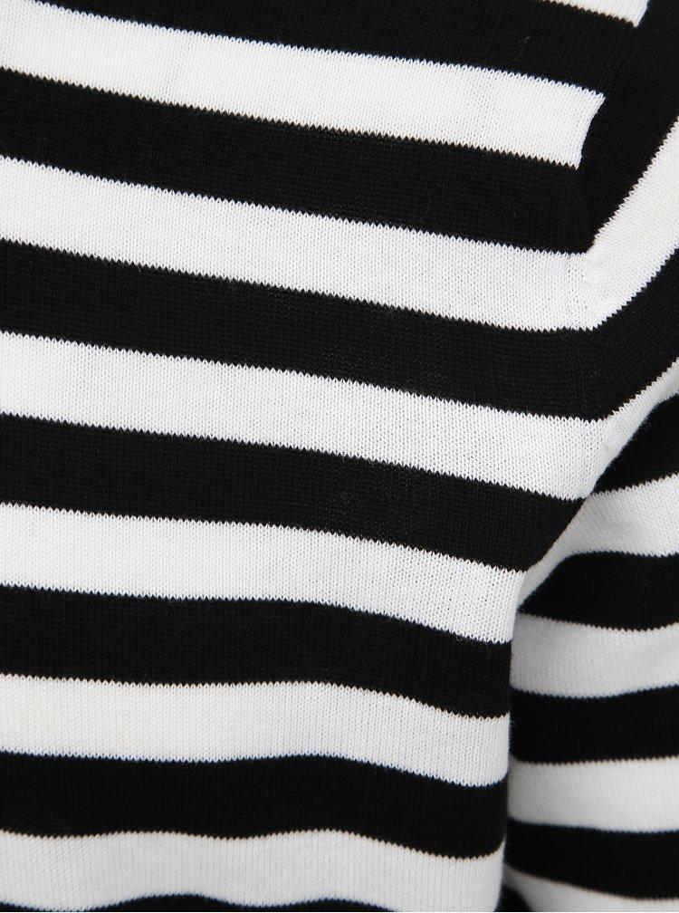 Bielo-čierny pruhovaný sveter ONLY & SONS Salex