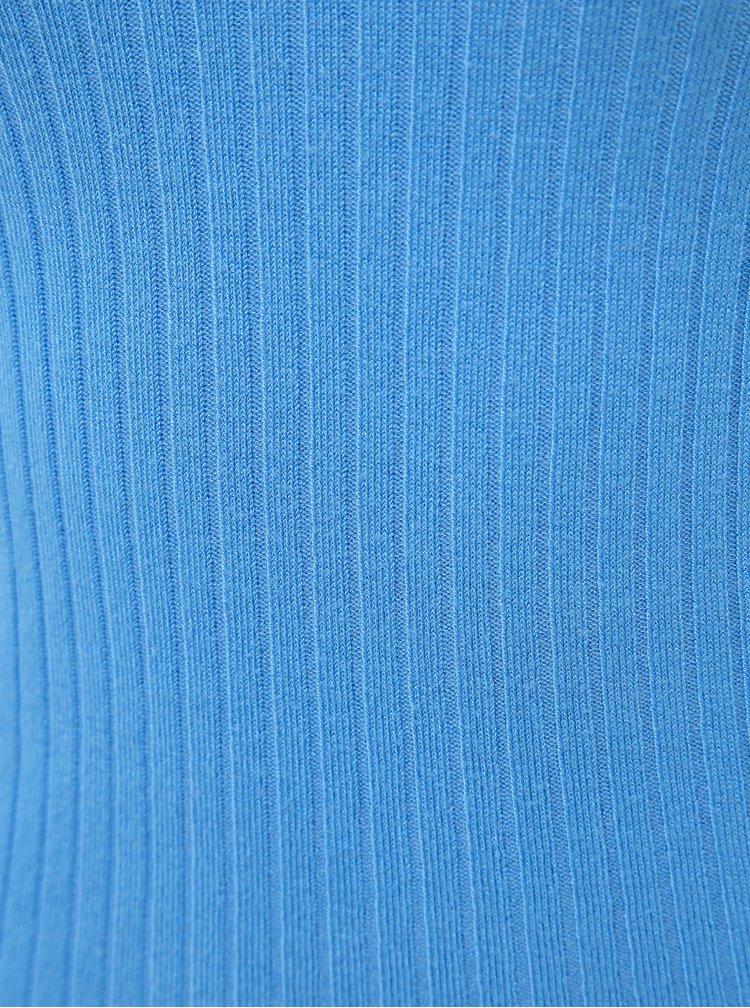 Modrý svetr s výstřihem na zádech Miss Selfridge