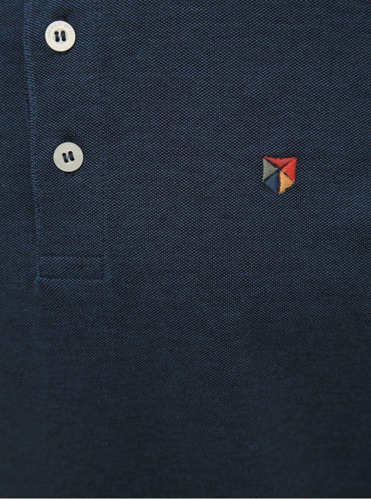 Tmavomodré polo tričko Jack & Jones Paulos