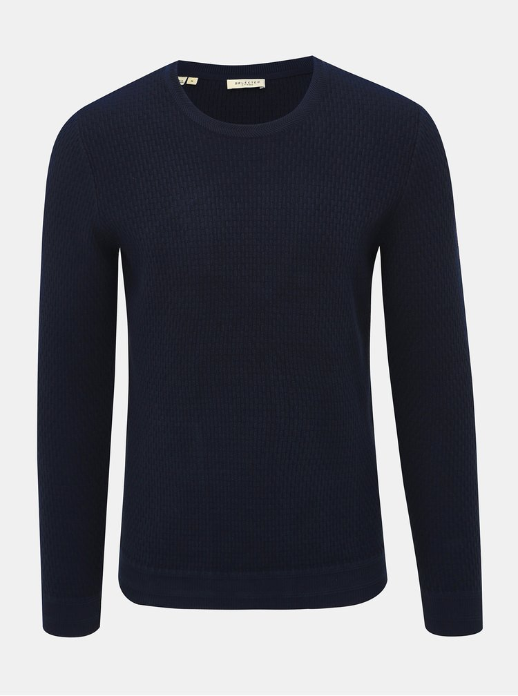 Tmavě modrý svetr Selected Homme Oliver