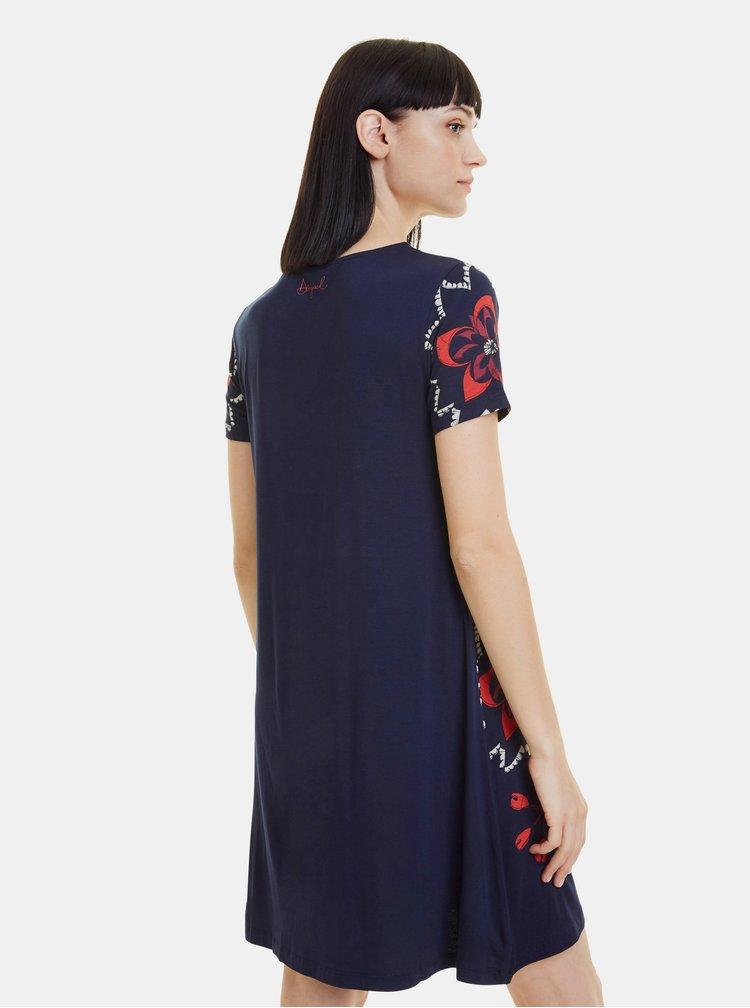 Tmavě modré vzorované šaty Desigual Anna