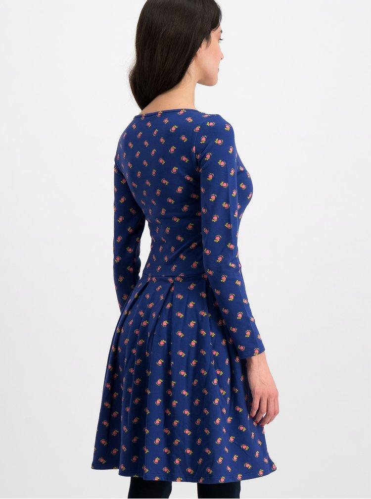 Tmavě modré vzorované šaty Blutsgeschwister True romance