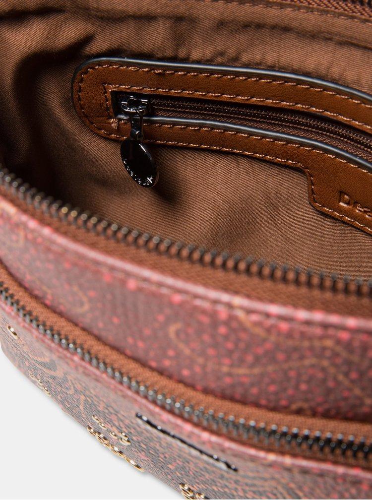 Hnedá vzorovaná crossbody kabelka Desigual Tekila Sunrise