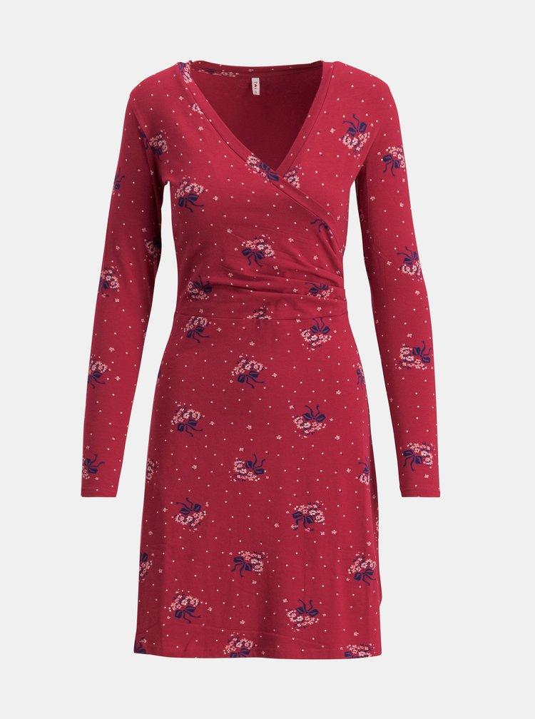 Červené vzorované šaty Blutsgeschwister Emerald
