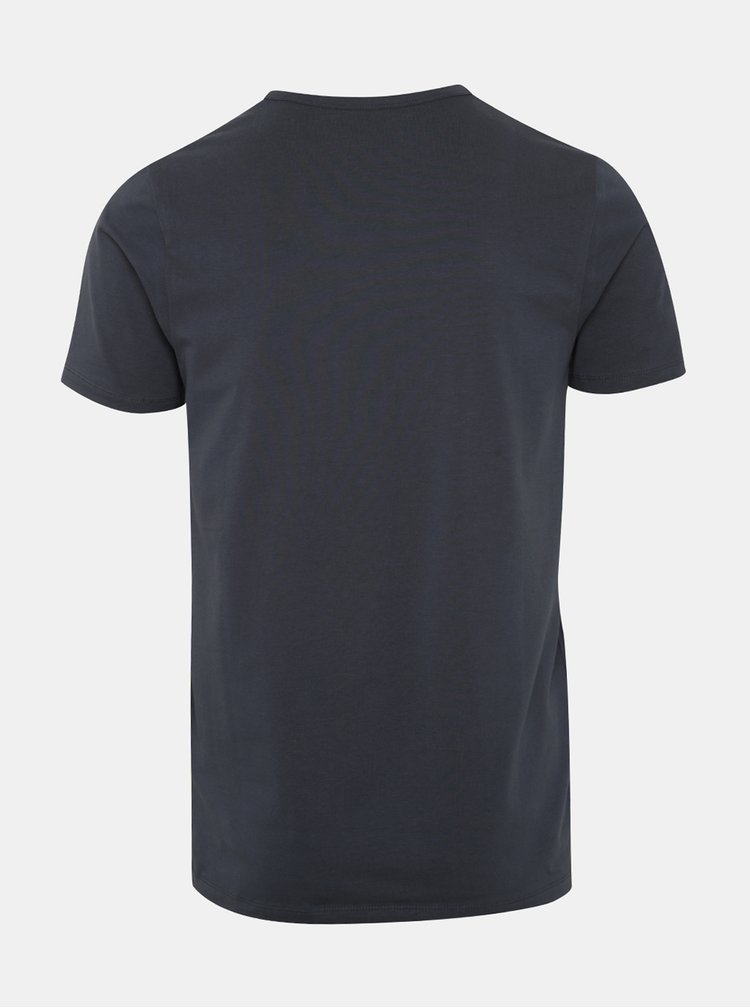 Tmavě modré basic tričko s véčkovým výstřihem Jack & Jones Basic