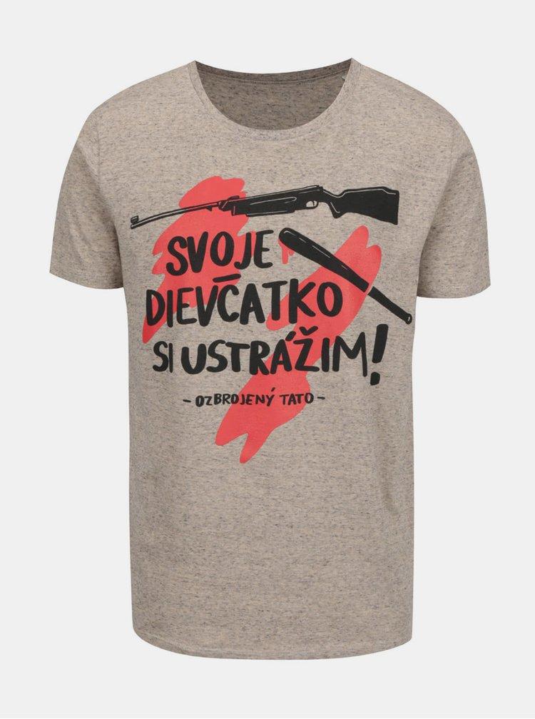 Béžové pánské tričko ZOOT Originál Svoje dievčatko si ustrážim