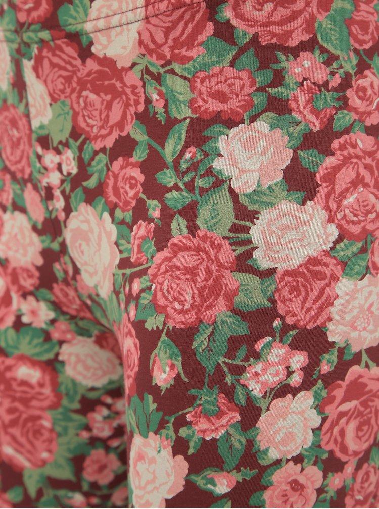 Rúžové kvetované legíny Blutsgeschwister