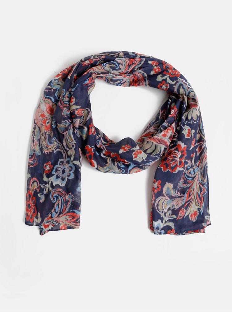 Modrý květovaný šátek Dorothy Perkins