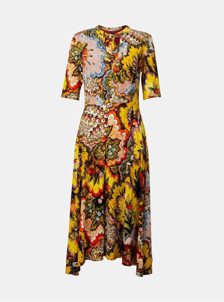 Žlté kvetované šaty Desigual Arlene