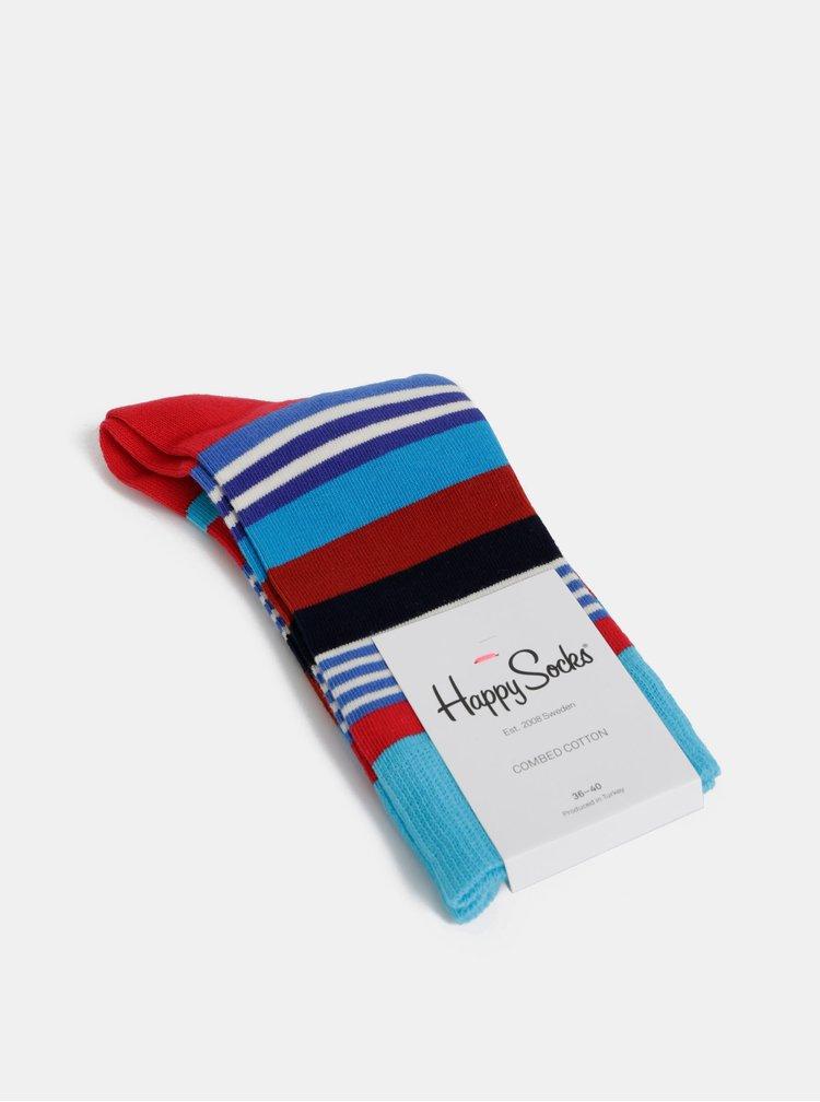 Modré pruhované ponožky Happy Socks Multi Stripe