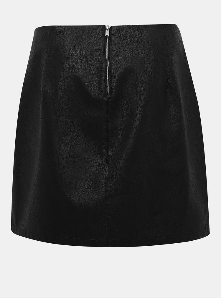 Černá koženková minisukně Dorothy Perkins Curve