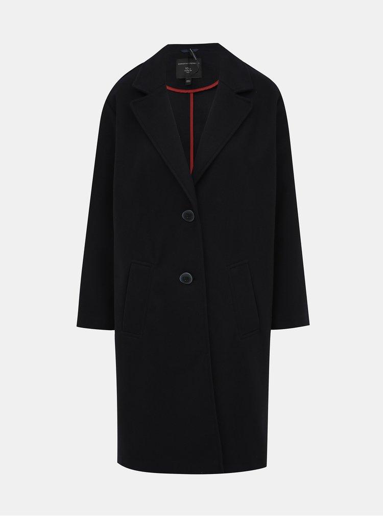 Tmavomodrý kabát Dorothy Perkins