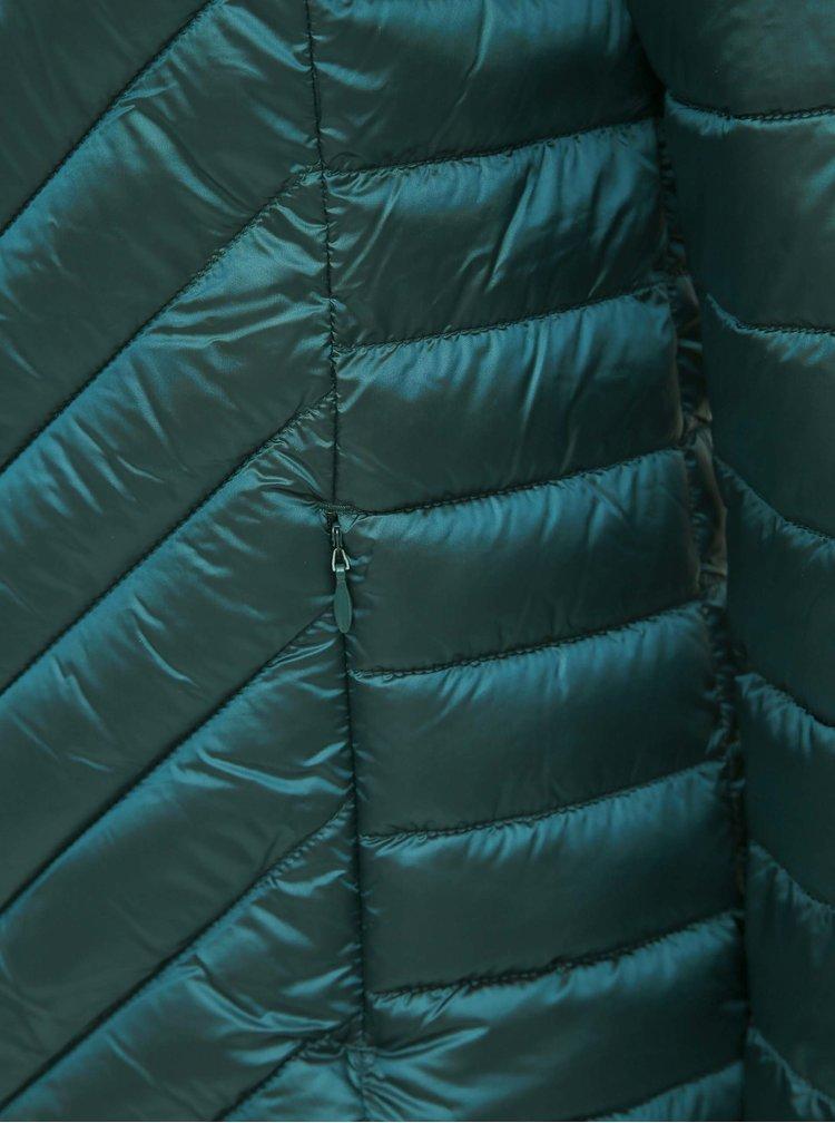 Tmavozelená prešívaná bunda M&Co