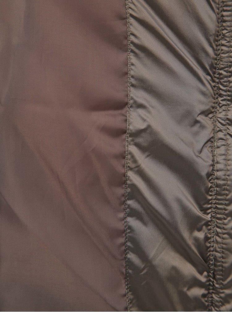 Hnedá prešívaná bunda M&Co