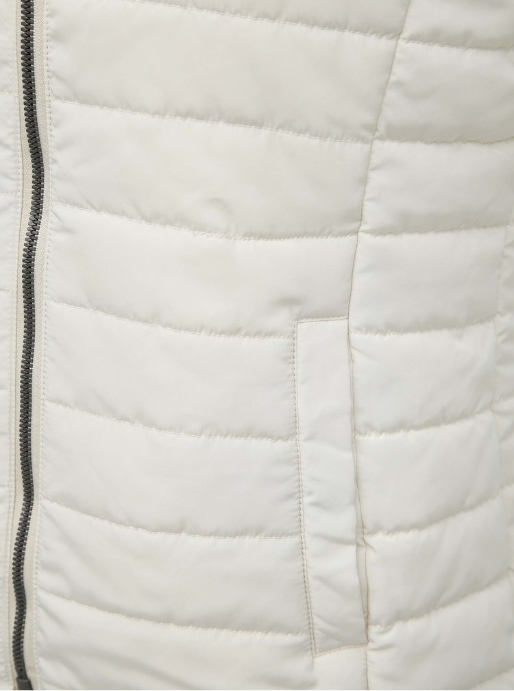 Biela dámska prešívaná vesta ZOOT