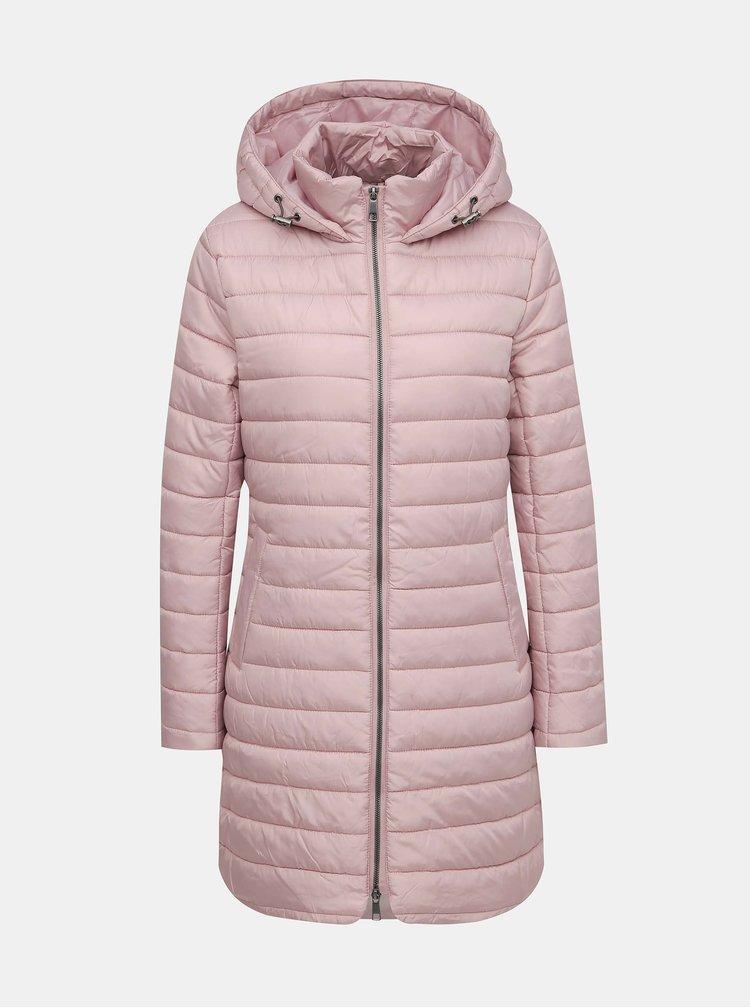 Světle růžový prošívaný kabát ZOOT