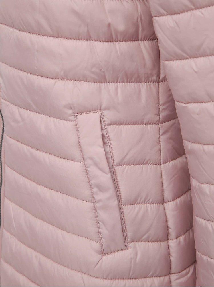 Svetloružový prešívaný kabát ZOOT