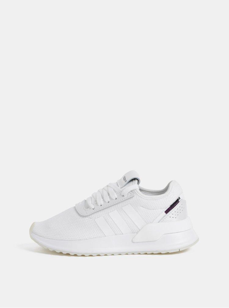 Biele dámske tenisky s koženými detailmi adidas Originals Path