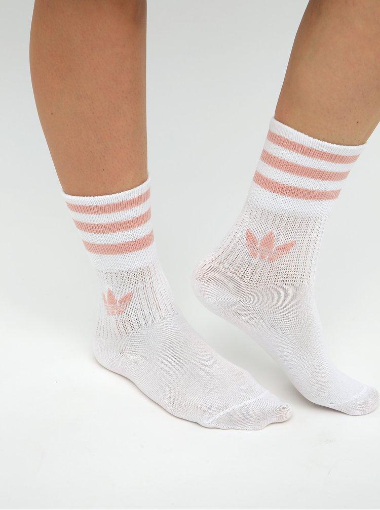 Sada troch párov dámskych ponožiek v rúžovej, vínovej a bielej farbe adidas Originals
