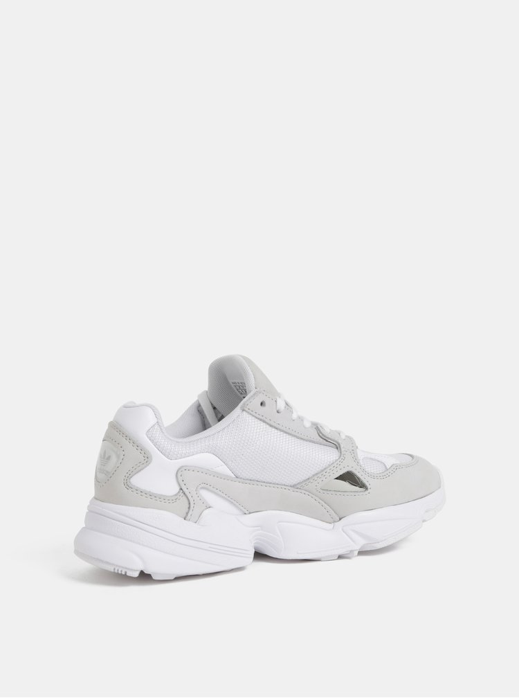 Šedo-bílé tenisky s koženými detaily adidas Originals Falcon