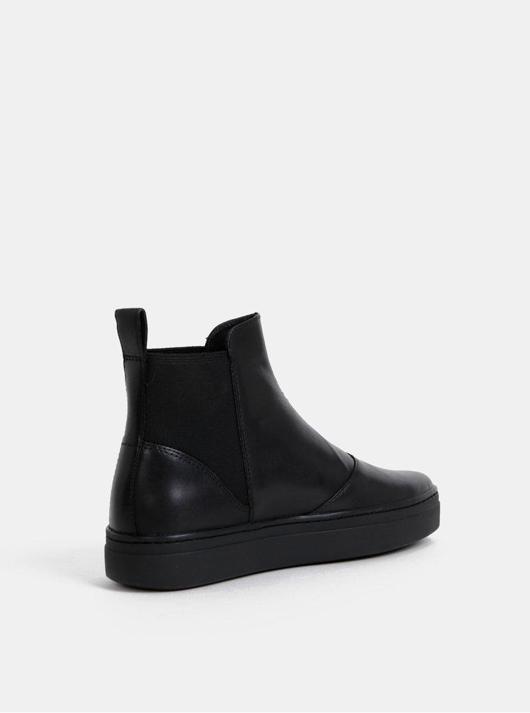 Černé dámské kožené kotníkové boty Vagabond Camille