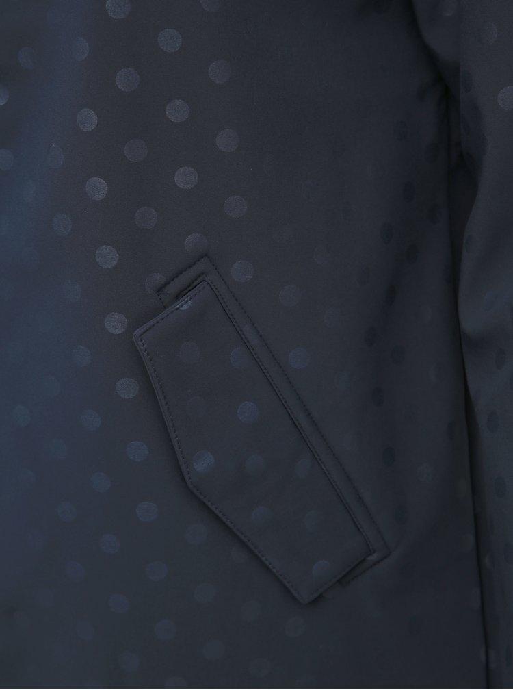 Tmavě modrá puntíkovaná softshellová bunda Zizzi Mallorca
