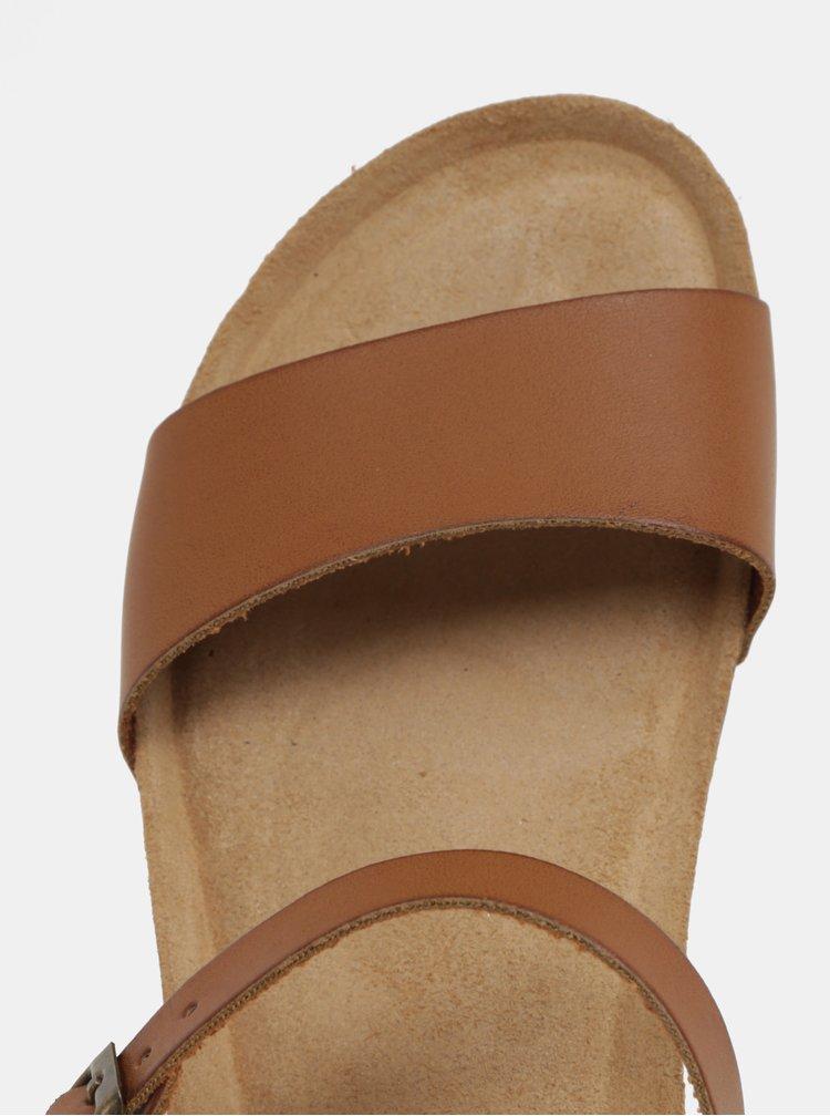 Svetlo hnedé sandále na kline OJJU