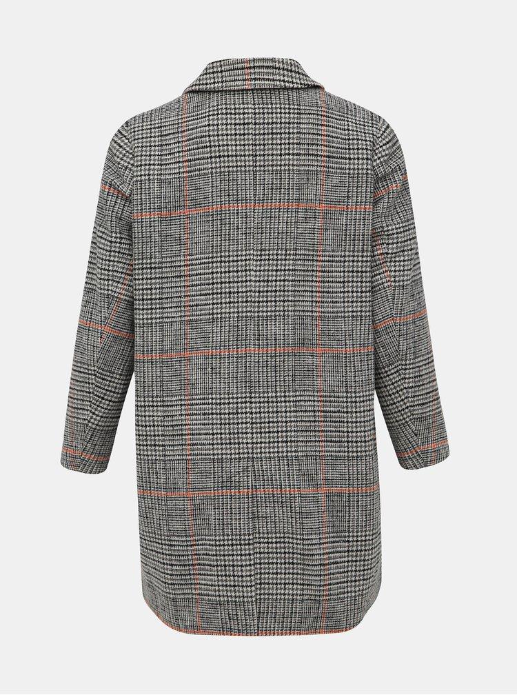 Šedý vzorovaný kabát Zizzi Zola