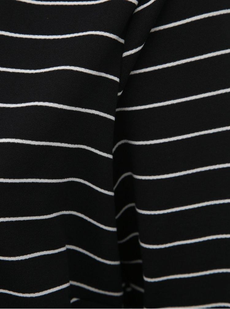 Černé pruhované šaty Zizzi Micky