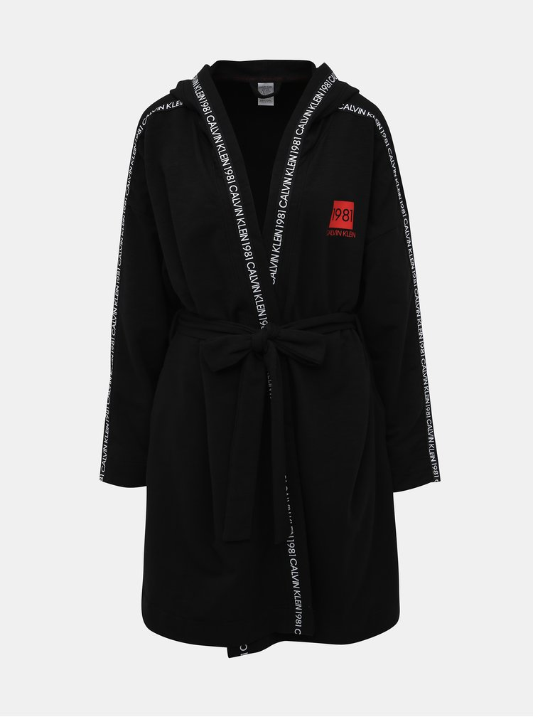 Čierny dámsky župan Calvin Klein Underwear
