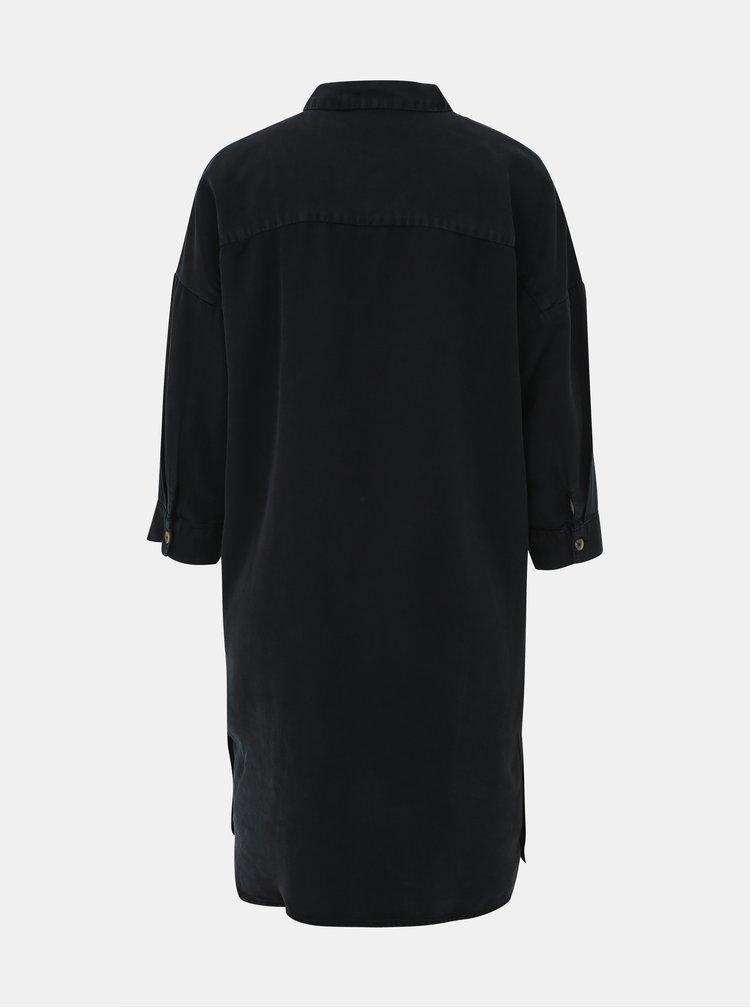 Čierne košeľové šaty Noisy May Mika