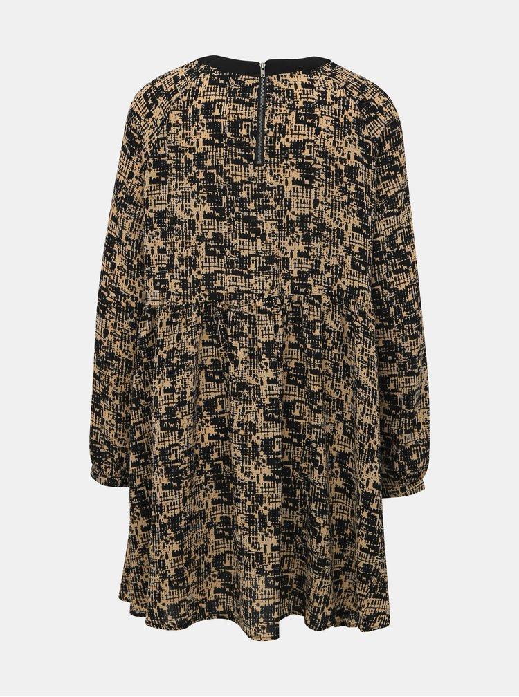 Svetlohnedé vzorované šaty Noisy May Lena