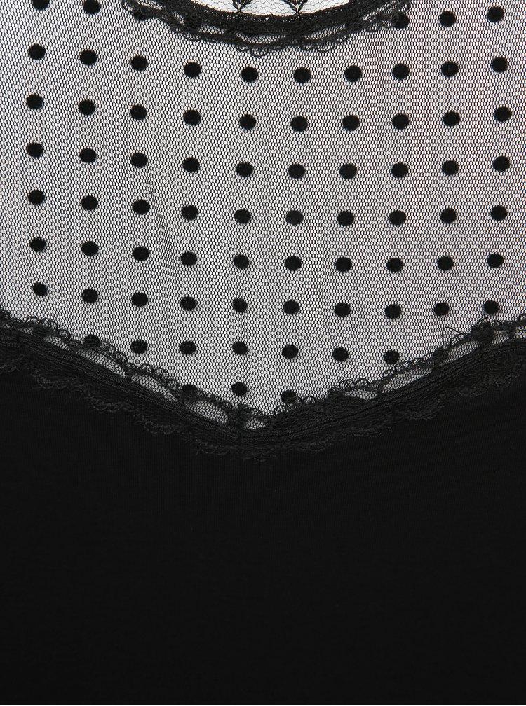 Černá puntíkovaná halenka Dorothy Perkins