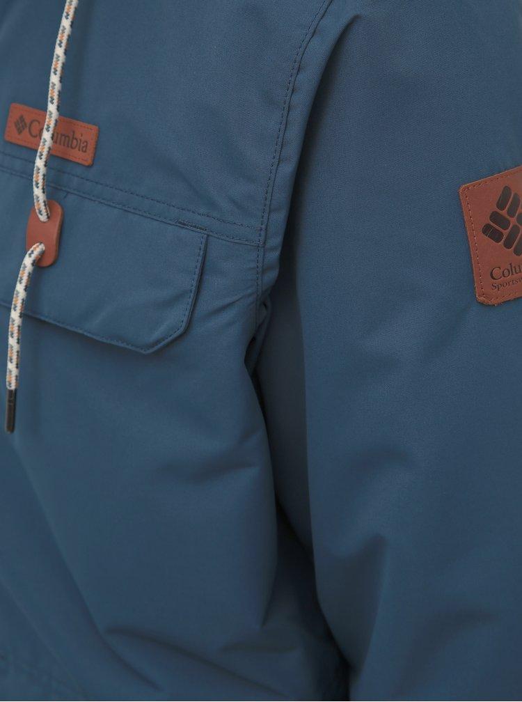 Modrá pánska vodeodolná zimná bunda s vnútorným umelým kožúškom Columbia South