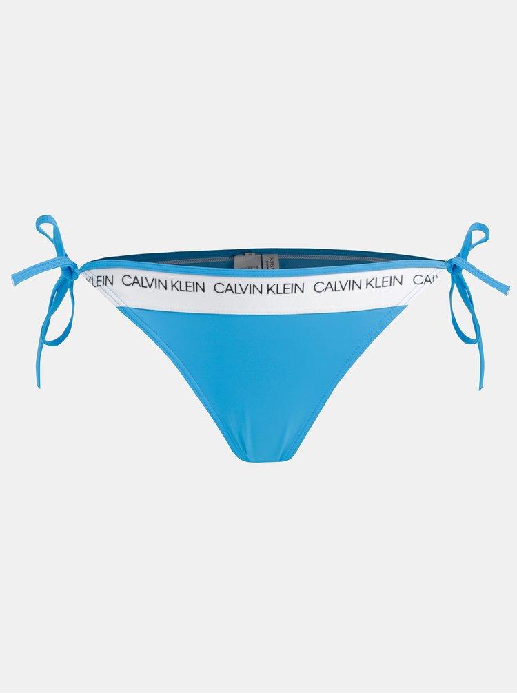 Slip de baie albastru de dama Calvin Klein Underwear