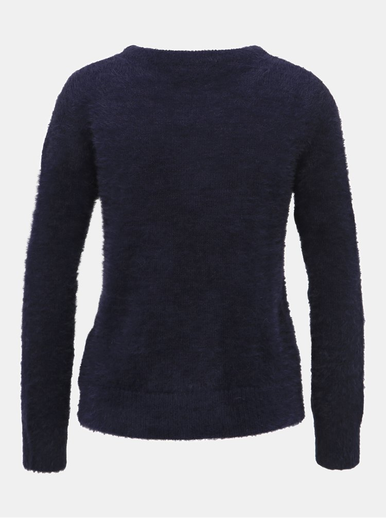 Tmavomodrý sveter Jacqueline de Yong Lexi