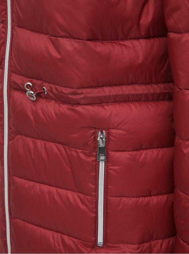 Červená zimná prešívaná parka ONLY Serena
