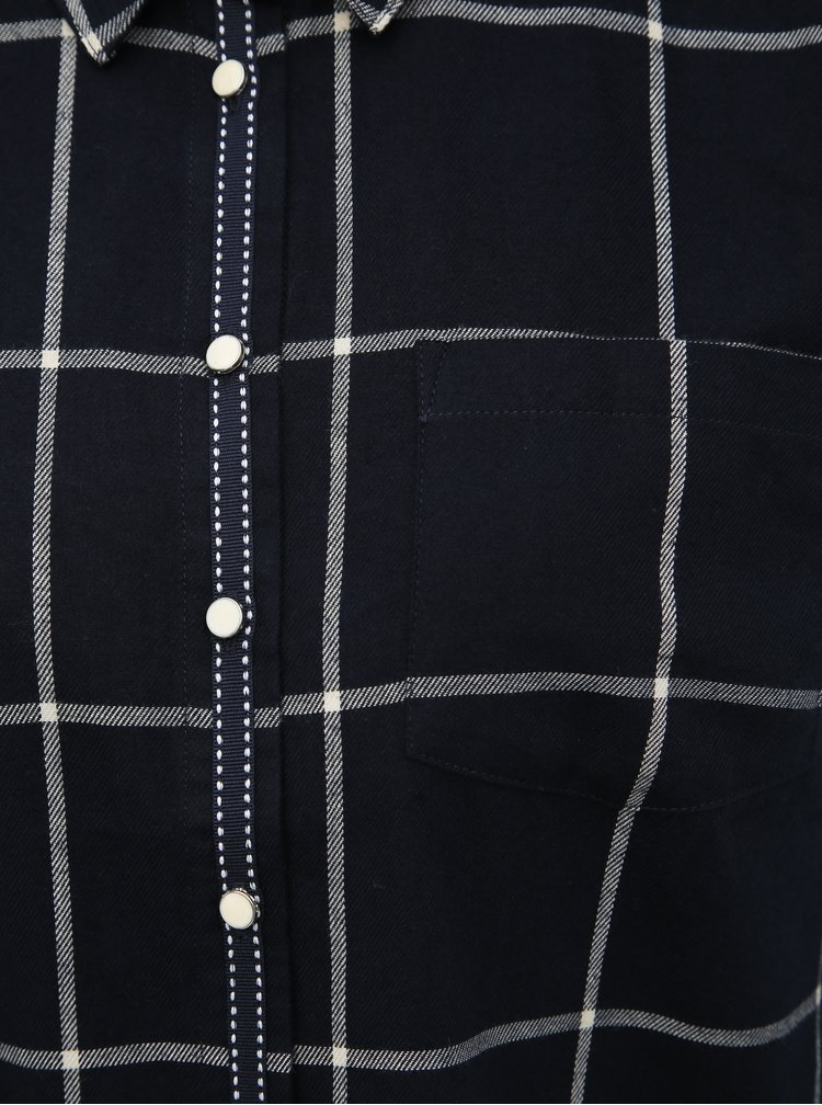Tmavě modrá kostkovaná košile Jacqueline de Yong Evita