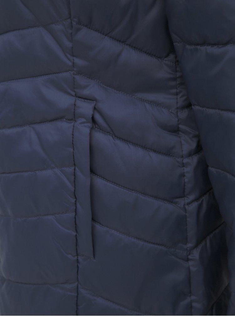 Tmavomodrá prešívaná bunda ONLY Demi