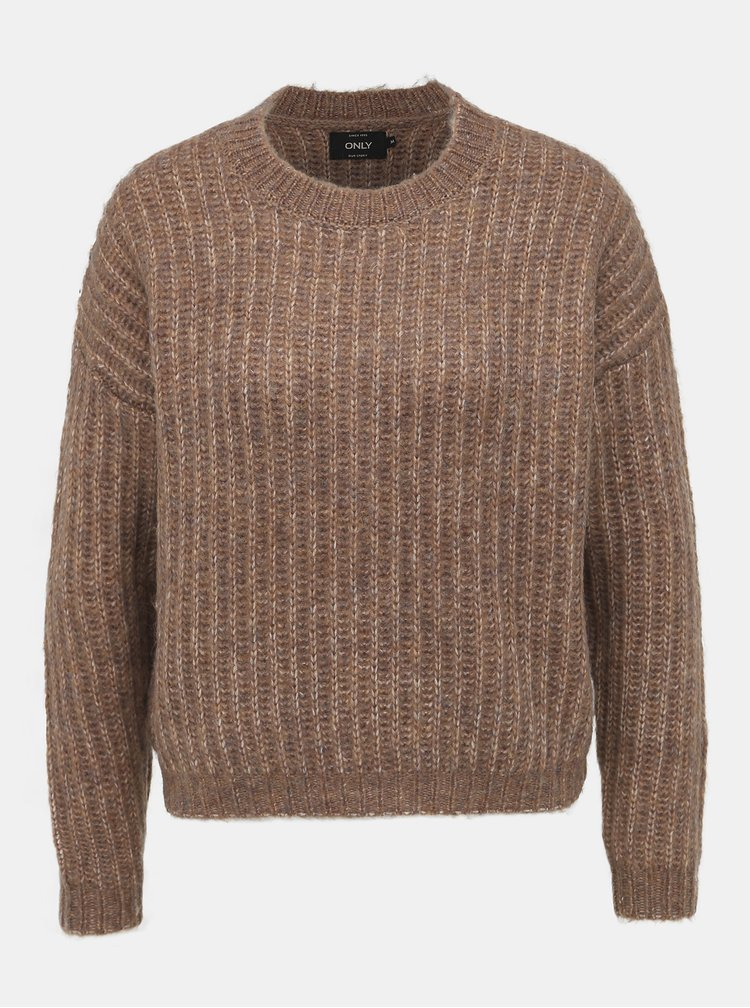 Hnedý sveter ONLY Chunky