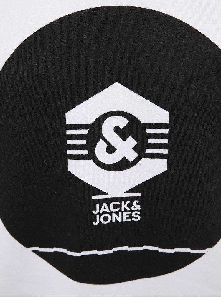 Bílá mikina s potiskem Jack & Jones Known