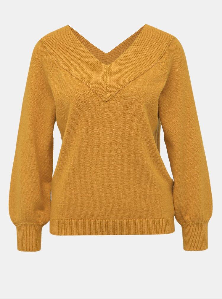 Hořčicový svetr Jacqueline de Yong Shanon