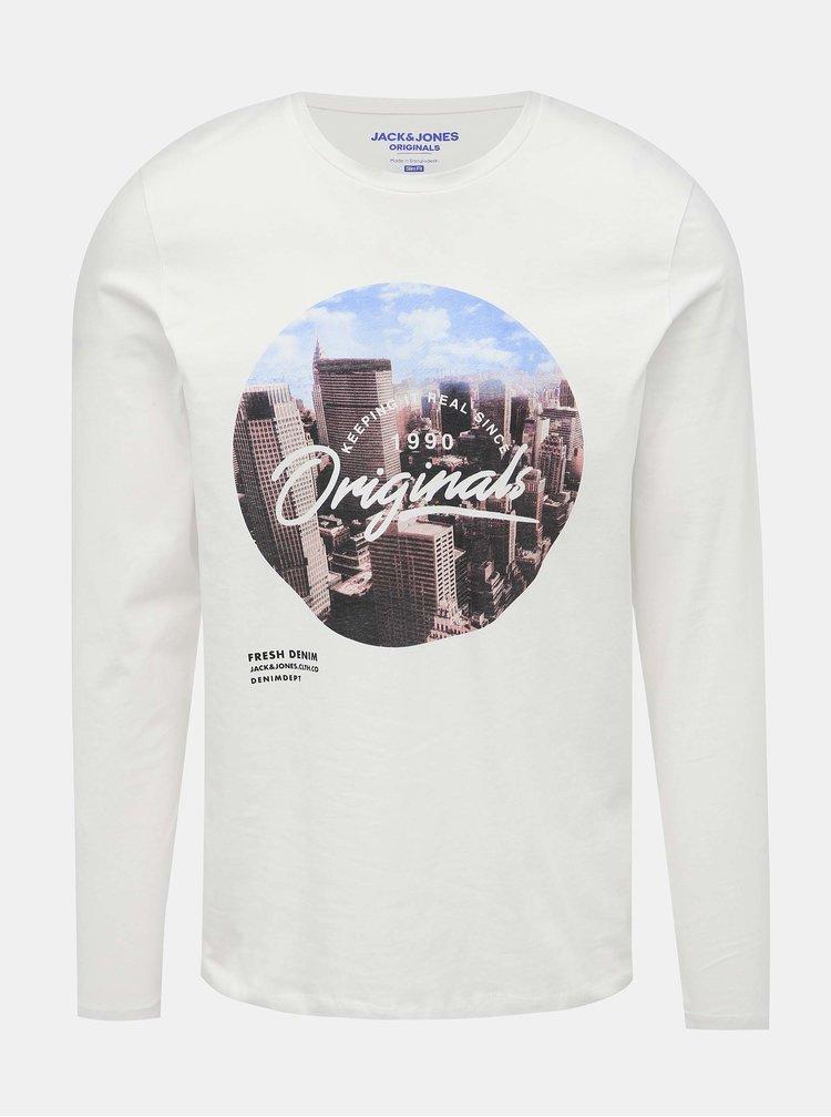 Bílé tričko s potiskem Jack & Jones Town