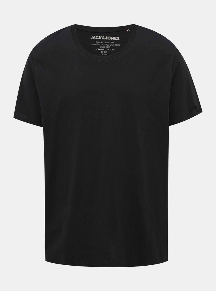 Černé basic tričko Jack & Jones Organic