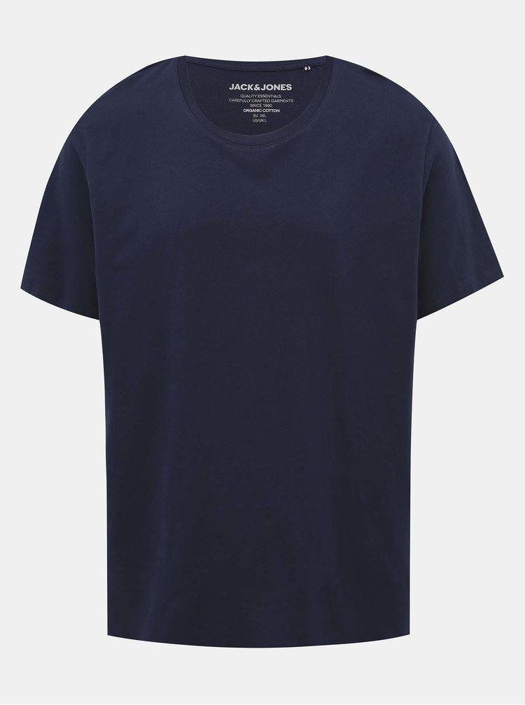 Tmavomodré basic tričko Jack & Jones Organic