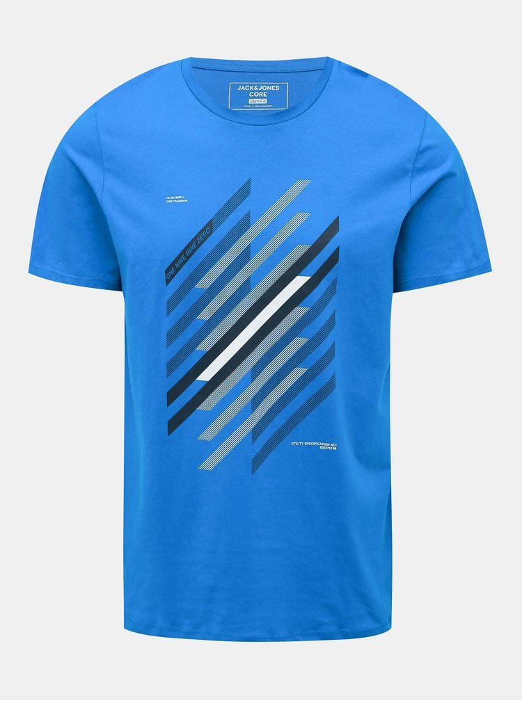 Modré tričko s potiskem Jack & Jones Booster