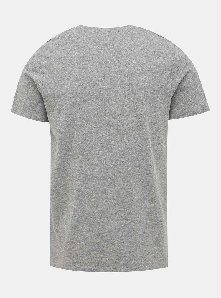 Šedé tričko s potlačou Jack & Jones Cool