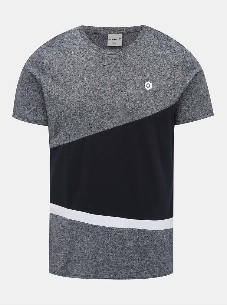 Tmavomodré tričko Jack & Jones Cross